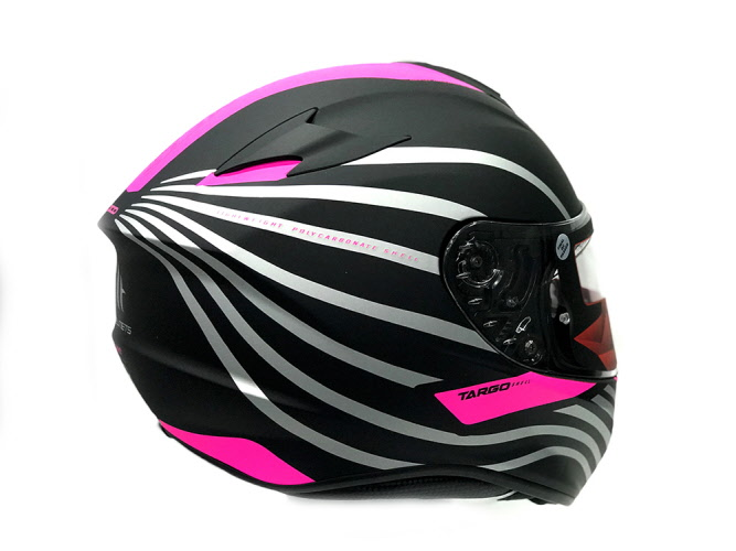 auténtica venta caliente profesional mejor calificado mejor sitio web Casco MT Targo Negro mate rosa